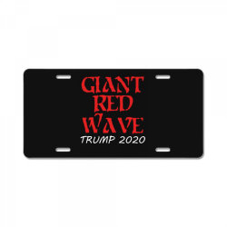 giant red wave coming License Plate | Artistshot