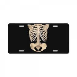 halloween costume skeleton License Plate | Artistshot