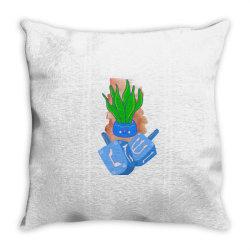 Ms. Snake Plant Throw Pillow | Artistshot