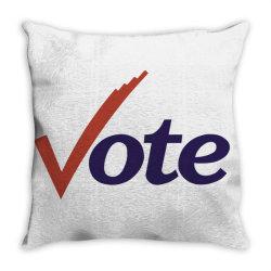 vote the change Throw Pillow | Artistshot