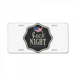 American rock night License Plate | Artistshot