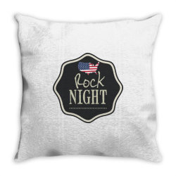 American rock night Throw Pillow | Artistshot