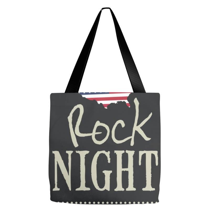 American Rock Night Tote Bags | Artistshot