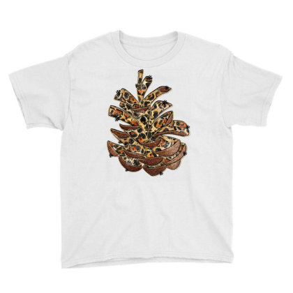 Leopard Pine Cone Youth Tee Designed By Badaudesign
