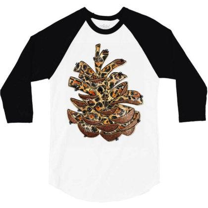 Leopard Pine Cone 3/4 Sleeve Shirt Designed By Badaudesign