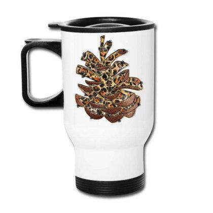 Leopard Pine Cone Travel Mug Designed By Badaudesign