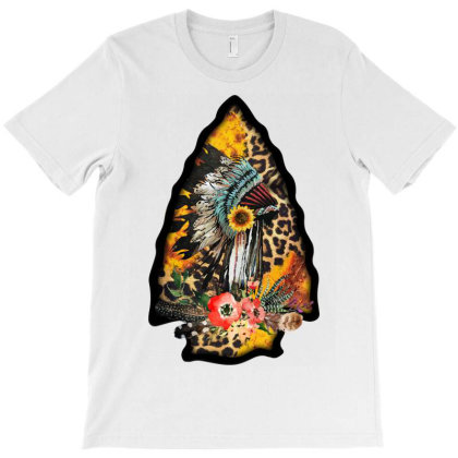 Leopard Arrowhead T-shirt Designed By Badaudesign