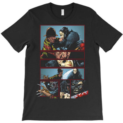 Freddy Krueger Vs Jason T-shirt Designed By Pujangga45