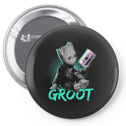 I Am Groot Baby Groot Gurdian Of The Galaxy Funny Pin-back Button Designed By Pujangga45