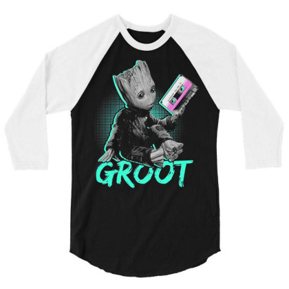 I Am Groot Baby Groot Gurdian Of The Galaxy Funny 3/4 Sleeve Shirt Designed By Pujangga45