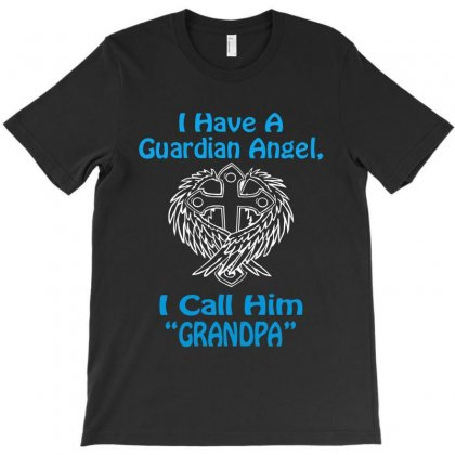 Guardian Angel Grandpa T-shirt Designed By Hntllc
