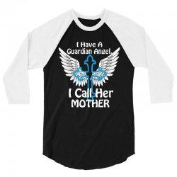 angel guardian mom 3/4 Sleeve Shirt   Artistshot