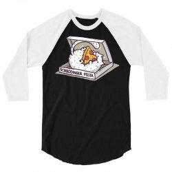 schrödinger pizza 3/4 Sleeve Shirt   Artistshot