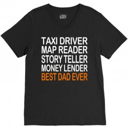 taxi driver best dad ever fathers day birthday christmas present gift V-Neck Tee | Artistshot
