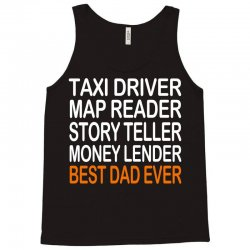 taxi driver best dad ever fathers day birthday christmas present gift Tank Top | Artistshot