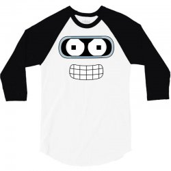 bender face futurama 3/4 Sleeve Shirt | Artistshot