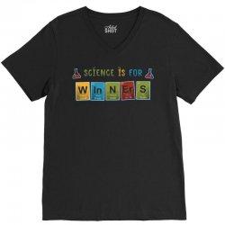 science is for winners V-Neck Tee | Artistshot