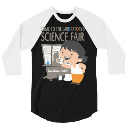 Come To The Laboratory Science Fair 3/4 Sleeve Shirt Designed By Mdk Art