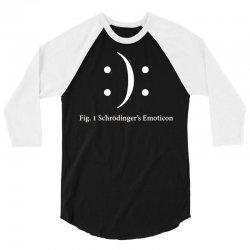 schrodinger's emoticon 3/4 Sleeve Shirt   Artistshot