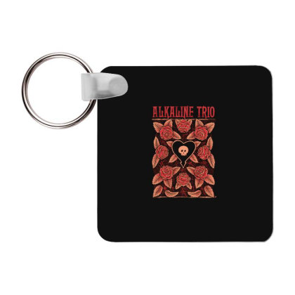 New Alkaline Trio American Punk Rock Band Logo4 Frp Square Keychain Designed By Pujangga45