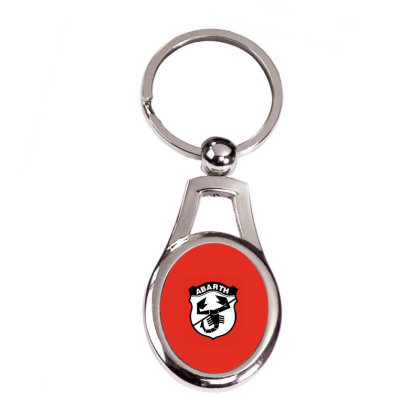 Abarth Silver Oval Keychain Designed By Saphira Nadia