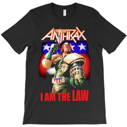 New Anthrax Dredd I Am The Law Metal Rock3 T-shirt Designed By Pujangga45