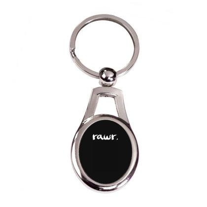 Rawr Silver Oval Keychain Designed By Toldo
