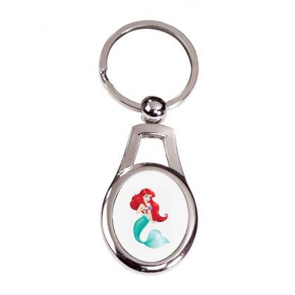 Ariel T-shirt Silver Oval Keychain Designed By Coşkun