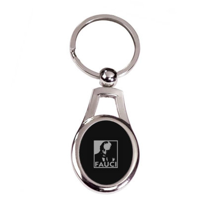 Dr Fauci Election Silver Oval Keychain Designed By Yad1_