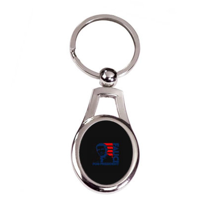 Dr Fauci For President Silver Oval Keychain Designed By Yad1_
