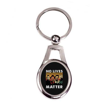 No Lives Matter Vintage Silver Oval Keychain Designed By Best Seller Apparel