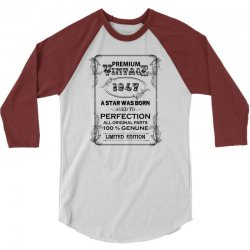 premium vintage 1947 3/4 Sleeve Shirt | Artistshot