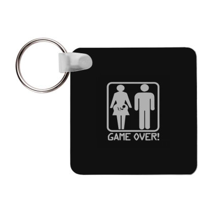 Game Over Pregnant Frp Square Keychain Designed By Yad1_