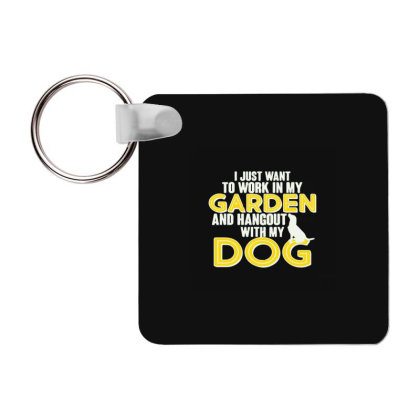 Gardening And Hangout With My Dogs Frp Square Keychain Designed By Yad1_