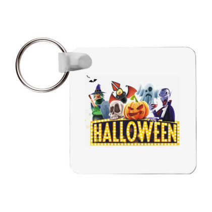Halloween T-shirt Frp Square Keychain Designed By Coşkun