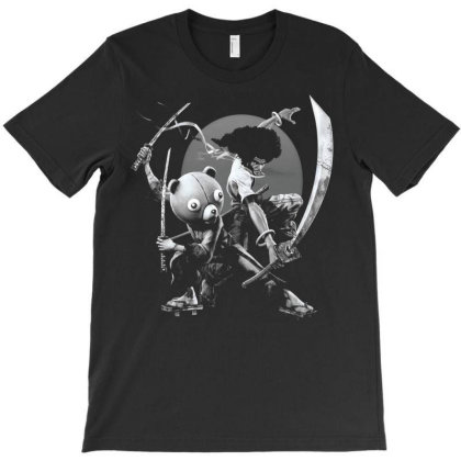 Afro Samurai Anime Manga Cartoon T-shirt Designed By Pujangga45