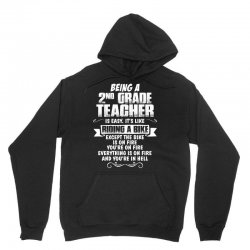 being a 2nd grade teacher is easy its like riding a bike 1 Unisex Hoodie | Artistshot