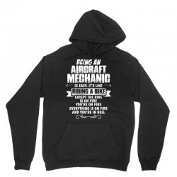 being a aircraft mechanic is easy its like riding a bike 1 Unisex Hoodie | Artistshot