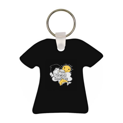 I'm Dead Inside T-shirt Keychain Designed By Yad1_