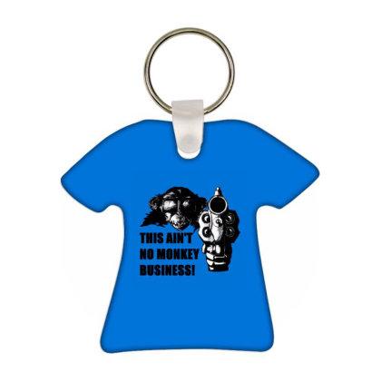 Monkey Business Cafe T-shirt Keychain Designed By Fuadin Asrohim