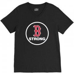 boston strong V-Neck Tee | Artistshot