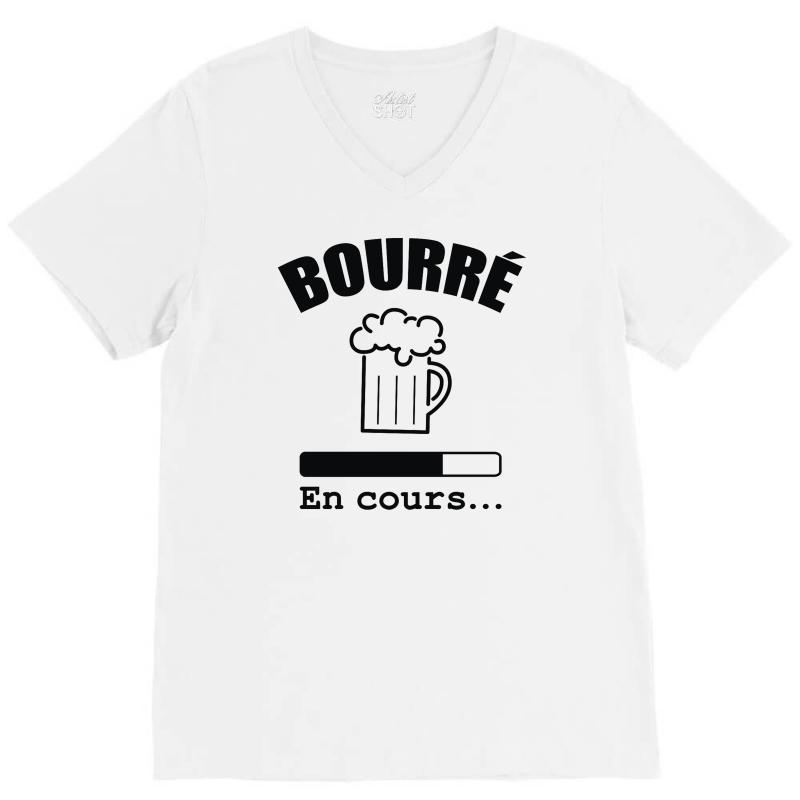 Bourré En Cours V-neck Tee   Artistshot
