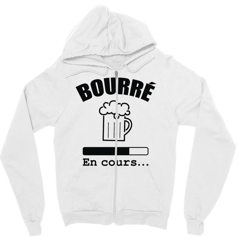 Bourré En Cours Zipper Hoodie | Artistshot