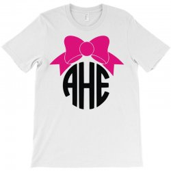 bow circle monogram T-Shirt | Artistshot