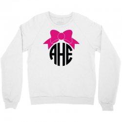 bow circle monogram Crewneck Sweatshirt | Artistshot