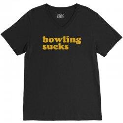 bowling sucks V-Neck Tee   Artistshot