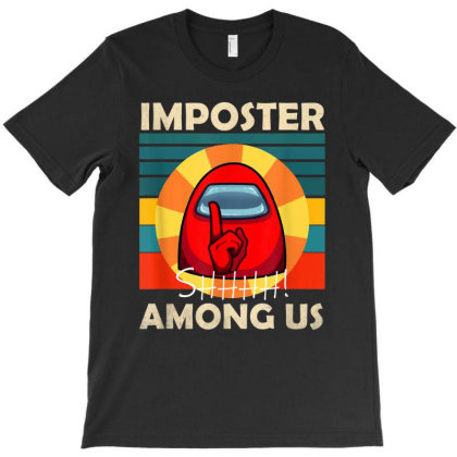Impostor Among Us Funny Vintage Game Sus T-shirt Designed By Conco335@gmail.com