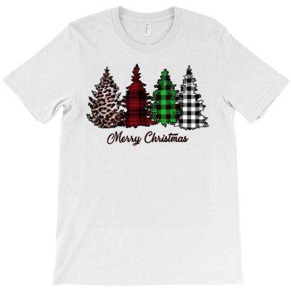 Merry Cristmas Trees T-shirt Designed By Sengul