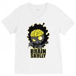 brain skully V-Neck Tee   Artistshot