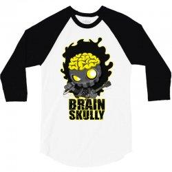 brain skully 3/4 Sleeve Shirt   Artistshot
